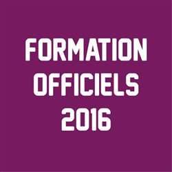 Formations d'Officiel Régional 2016